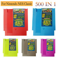 Super Games 500IN1 Best Games Collection 72Pins For Game NES Classic Accessories