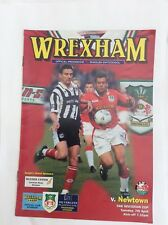 Wrexham v Newtown  FAW invitation cup April  1998