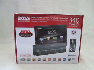 NEW BOSS AUDIO VIDEO TOUCHSCREEN DVD FLIP OUT TV CAR RADIO SEALED NIB MP3 CD USB