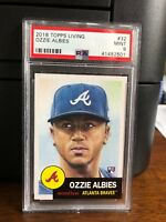 2018 Topps Living Ozzie Albies Braves Rookie Card #32 PSA 9 Mint
