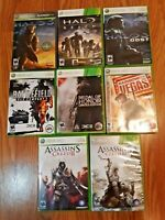 Lot of 8 XBox 360 Games Halo 3, assassins creed  Battlefield Medal of honor etc