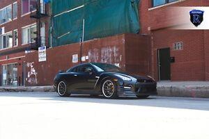 20x10 20x11 +28 Rohana RC9 5x114.3 Graphite Wheels Fits Nissan GTR R35 STAGGERED