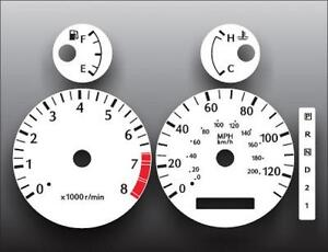 White Face Gauge Kit Fits 2000-2002 Infiniti G20 Dash Instrument Cluster 00-02