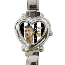 Real Madrid Cristiano Ronaldo Cr7 Cool heart italian charm watch free shipping