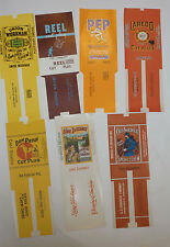 7 UNUSED VINTAGE TOBACCO LABELS! DAN PATCH/REEL/OLD SOLDIER/LONG DISTANCE/LAREDO