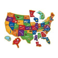 Learning Resources Magnetic USA Map Puzzle