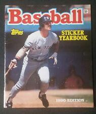 Vintage 1990 Topps MLB Baseball Sticker Yearbook