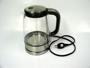 Breville BKE595XL The Crystal Clear Electric Kettle German Schott Glass Pot