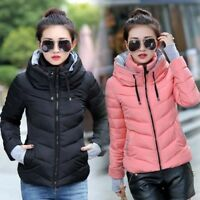 Winter Womens Down Cotton Short Coat Padded Parka Outerwear Slim Thicken Jacket