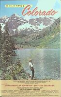 Vintage Travel Brochure Colorful Colorado 1964 Travel Guide and Map