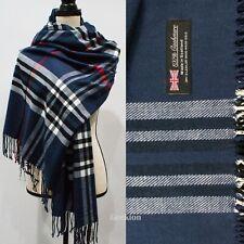 Womens Mens Soft Oversized Blanket 100% Cashmere Wool Shawl Wrap Scarf Scotland