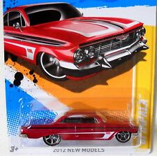 2012 Hot Wheels NEW MODELS #37/50 * '61 IMPALA * MF RED 409