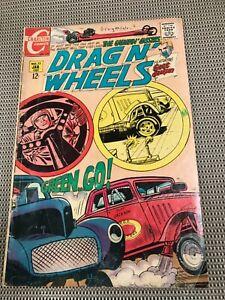 DRAG N' WHEELS #32 Charlton Comics Jan 1969 VG 4.0; Hot Rods dragster, Race fans