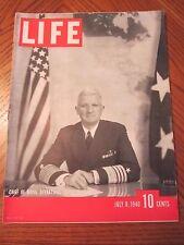 Life Magazine Chief of Naval Operations Harold Stark July 1940
