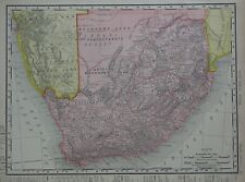 Original 1906 Map SOUTH AFRICA Cape Town Natal Swaziland Walfish Bay Bushmen