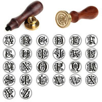 Classic Alphabet Initial Sealing Wax Seal Stamp Invitations Gift - Letter A-Z US