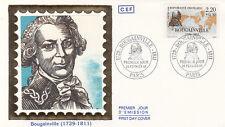 Enveloppe 1er Jour NAVIGATION BATEAU MER PARIS 20/02/1988 BOUGAINVILLE 2 timbrée