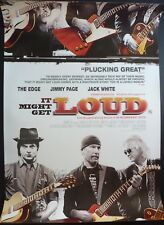 IT MIGHT GET LOUD ORIGINAL 2008 ONE SHEET POSTER JACK WHITE JIMMY PAGE THE EDGE