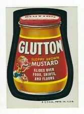 1974 Topps Wacky Packages 5th Series 5 GLUTTON MUSTARD high-gloss nm- o/c
