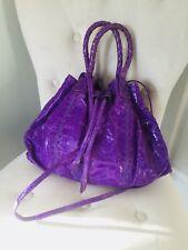 fatto a mano purple bag for women