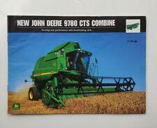 JOHN DEERE 9780 CTS COMBINE SALES BROCHURE
