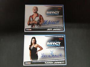 JEFF JARRETT / KAREN JARRETT 2011 TRISTAR TNA IMPACT AUTOGRAPH WRESTLING CARDS