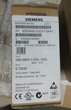 Siemens micromaster 420 6se6420 2ud17 5aa1   6es6 420 Nuevo!! Varias unidades!!