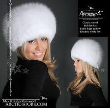 SHADOW WHITE fox Fur hat Chapka Russe Fourrure Renard Pelzmutze Pelliccia