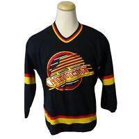 Vintage 90s Vancouver Canucks Starter Skate Logo Hockey Jersey Men's Medium NHL