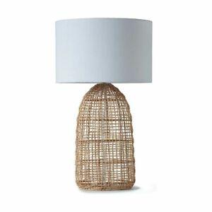 Rattan Table Lamp Bedside Side Table Light Desk Lounge Study Bedroom Home Decor