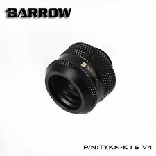 "Barrow G1/4"" Matte Black Compression Fitting For 16mm Rigid Tubing -136"
