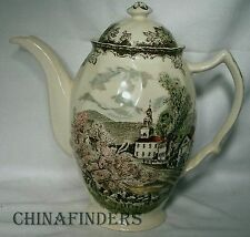 JOHNSON BROTHERS china FRIENDLY VILLAGE multicolor Coffee Pot & Lid