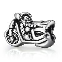 Motorcycle Jewelry European 925 Silver Bead Charms For Boy Sterling Bracelets
