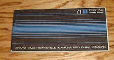 Original 1971 Pontiac Bonneville Grand Ville Catalina Owners Operators Manual