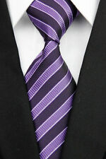 Purple Men's Business Tie Horse Show Riding Online Pinstripe Striped Necktie NEW