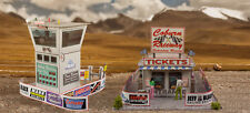 1:87 Scale Race Tower/Ticket Gate Entrance Photo Real Building HO Trains Set