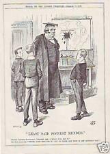 original 1900 cartoon print !  john bull in the transval
