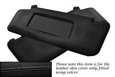 BLACK STITCH FITS MERCEDES C CLASS W204 2007+ 2X SUN VISORS LEATHER COVERS ONLY