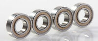 6x12x4mm Ball Bearings 4pc - MR126 2TS Bearings - PTFE Sealed MR126 Bearings
