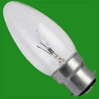 12x 60W Clear Candle Dimmable Filament Light Bulbs, B22, BC, Bayonet Cap Lamps
