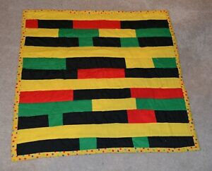 Gee's Bend Outsider Folk Art QUILT  AFRICAN AMERICAN SIGNED
