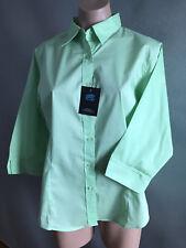 BNWT Ladies Sz 14 DNC Workwear Corporate Style Mint Business 3/4 Sleeve Shirt