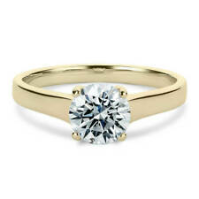 14k White Gold Round Cut Solitaire Prong Moissanite Engagement Ring 4
