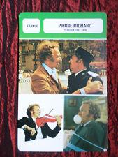 PIERRE RICHARD - MOVIE STAR - FILM TRADE CARD - FRENCH