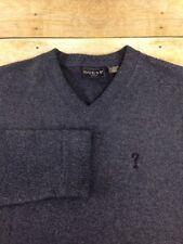Vtg 90s Guess Fleece Pullover Mens XL Blue V-Neck