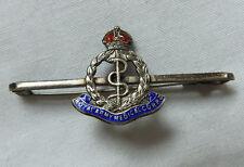 Military WW1 Royal Army Medical Corps Silver Sweetheart Brooch Enamel Badge(4439