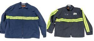 Reflective Insulated Panel Jacket Red Kap Hi Vis HV Visibility Used Work Coat