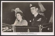 Royal Wedding. The Royal Bride & Groom off on Their Honeymoon - Photo Postcard