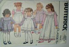 "'BUTTERICK CLASSICS"" 3554  TODDLERS/CHILDS DRESS & PINAFORE PATTERN , UNCUT"