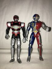 "2 Saban VR Troopers Ryan Steele & JB Reese 5""  1995 Action figure 1984"
